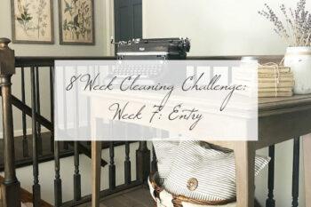 8 Week Cleaning Challenge Week 7 Entry
