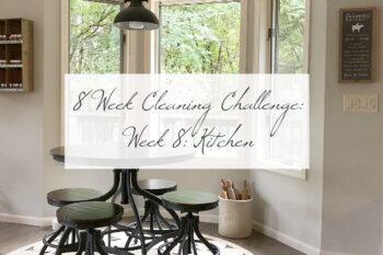 8 Week Cleaning Challenge Kitchen