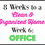 8 Week Cleaning Challenge: Office