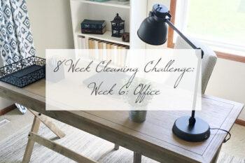 8 Week Cleaning Challenge Week 6 Office