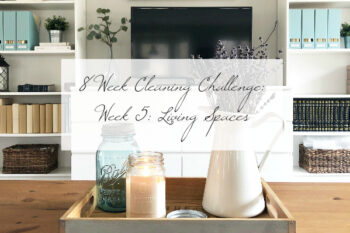 Cleaning Living Spaces Week 5 of the 8 week cleaning challenge title image