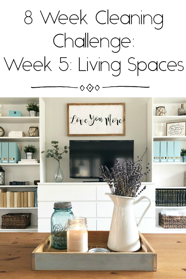 Cleaning Living Spaces Pinterest Image