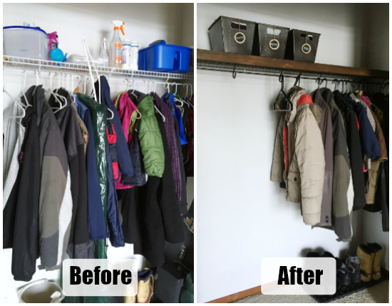 Coat Closet Reveal