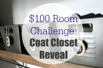 $100 Room Challenge: Coat Closet Reveal