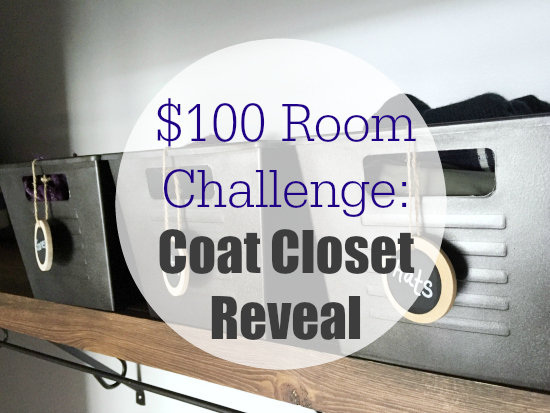 100 Room Challenge Coat Closet Reveal