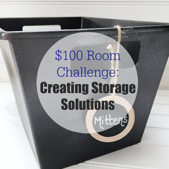 I love this dollar store storage idea. It's amazing what spray paint can do to create bins that work with any decor. #storageidea #dollarstore #dollarstorebins #organize #organization