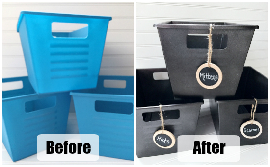 Storage Bins Before and After