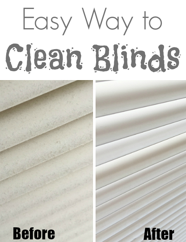 Cleaning Blinds Before and After Pinterest Image