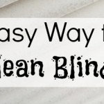 Easy Way to Clean Blinds