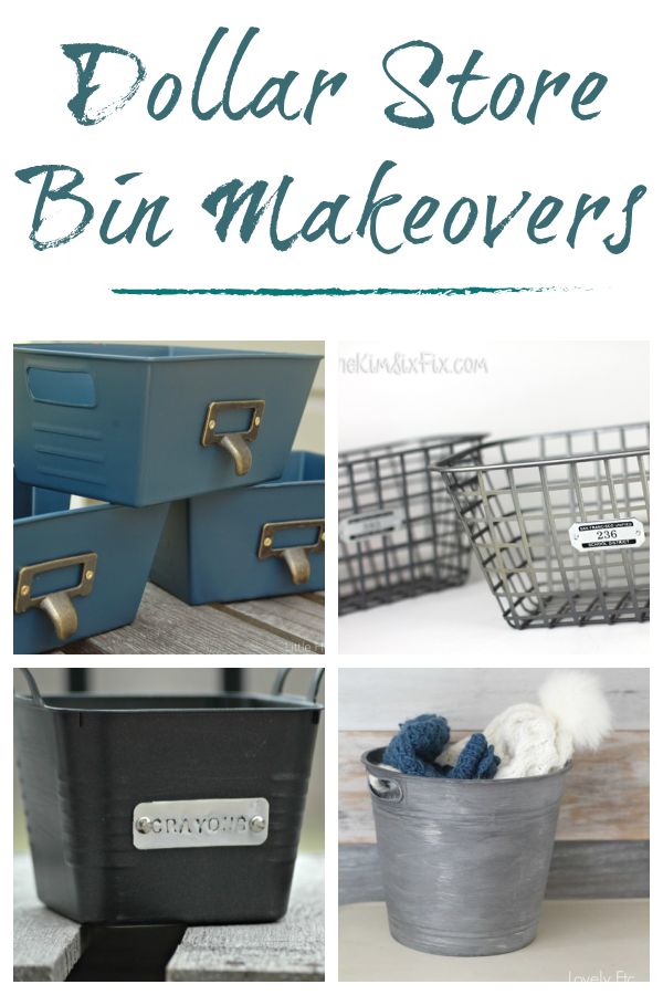Dollar store bins often come in bright colors that may not work for everyone's home decor. Try these easy ways to makeover dollar store bins to create the perfect storage solutions for your home!