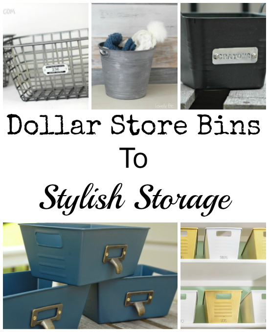 Creating Stylish Storage from Brightly Colored Dollar Store Bins