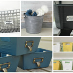 Dollar Store Bins to Stylish Storage: Just Add Paint