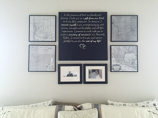 Gallery Wall with Vintage Maps