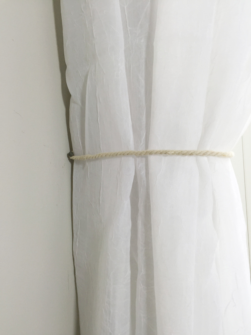 Master Bedroom Reveal Hemp Curtain Holdback