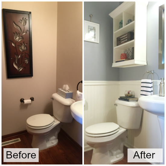 Before and After Powder Room