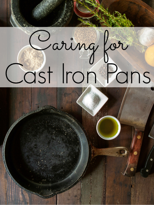 With a few simple steps you can keep cast iron pans looking great.