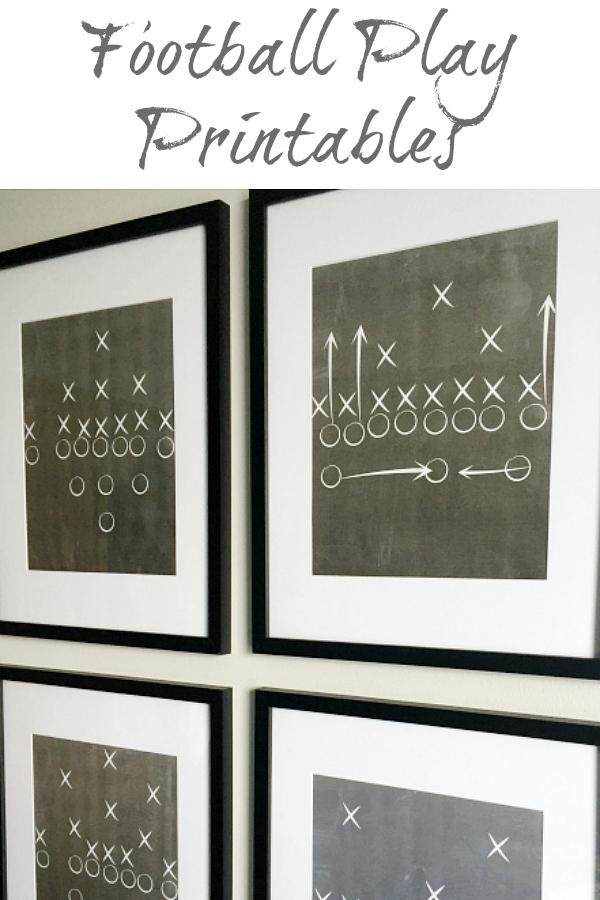 This tutorial on creating football play printables is perfect for creating a football themed bedroom or playroom.