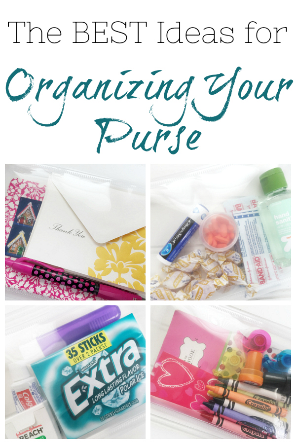 Sharing some ideas for organizing your purse. Use clear pouches and group like items together so you can be ready in any situation.
