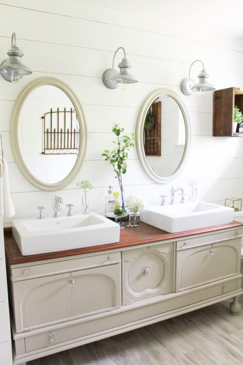 Bathroom Reveal via Making It In the Mountains