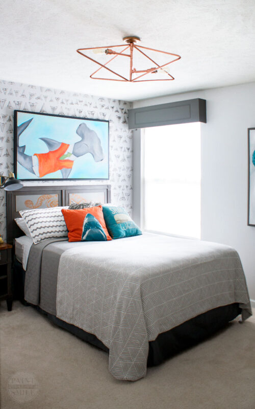 Boy Bedroom Reveal via Paint Yourself A Smile