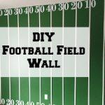 DIY Football Field Wall