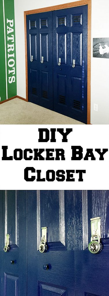Step-by-step tutorial on turning bi-fold closet doors into faux lockers.