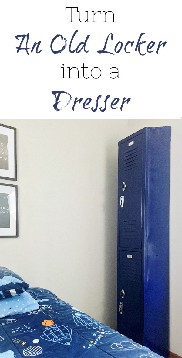 Create a dresser (or storage) from an old locker.
