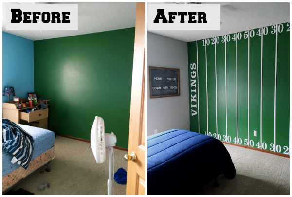 Football Bedroom Reveal