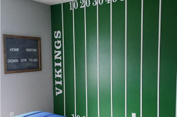 One Room Challenge: Boy's Football Bedroom Reveal