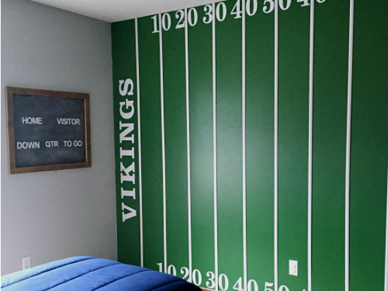 Boy\'s Football Bedroom Reveal - Lemons, Lavender, & Laundry