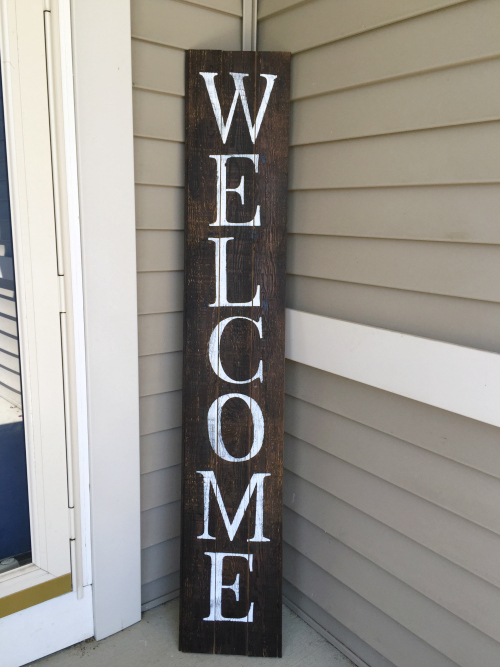 100 Room Challenge Diy Barnwood Welcome Sign Lemons