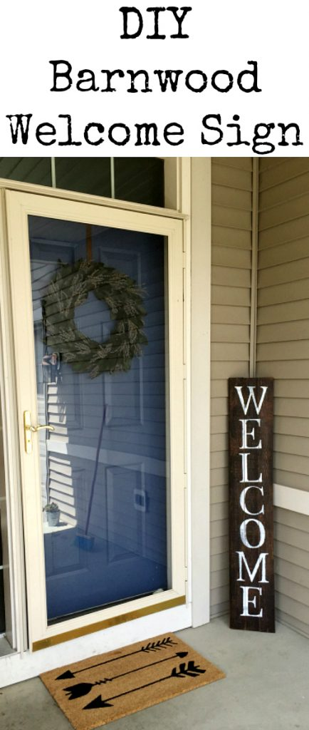 Easy DIY Barnwood Welcome Sign