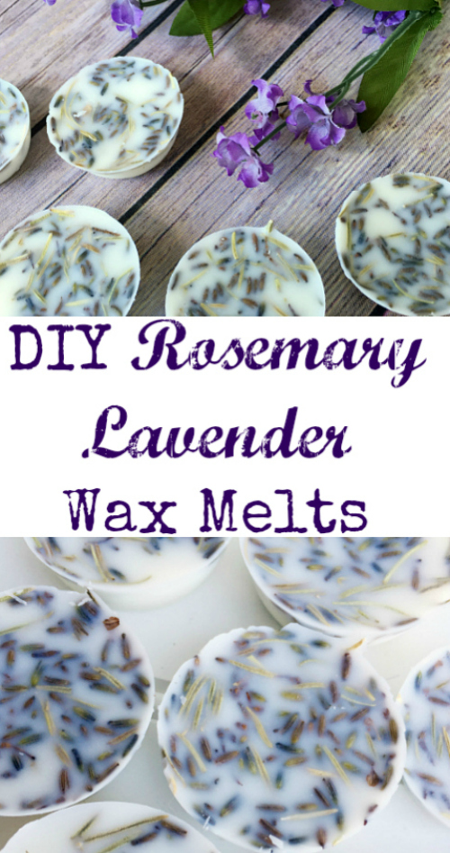 These wax melts look pretty easy to make, and I love the scent of lavender and rosemary.