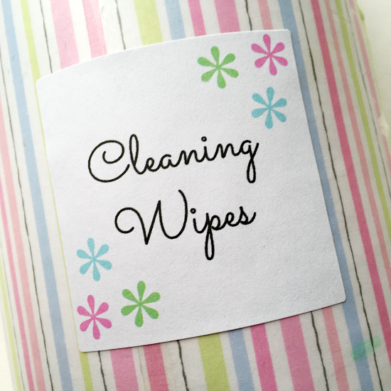 Cleaning Wipes- Free Printable Label