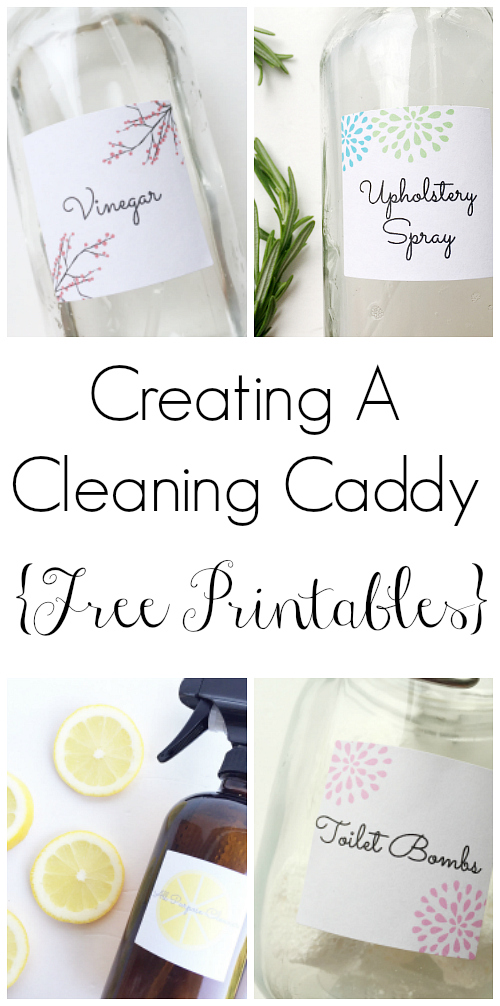 Creating a cleaning caddy is easy to do, and included are some free printables to get you started.
