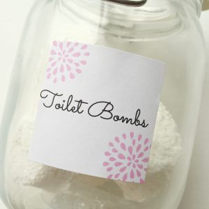 Toilet Bombs- Free Printable Label