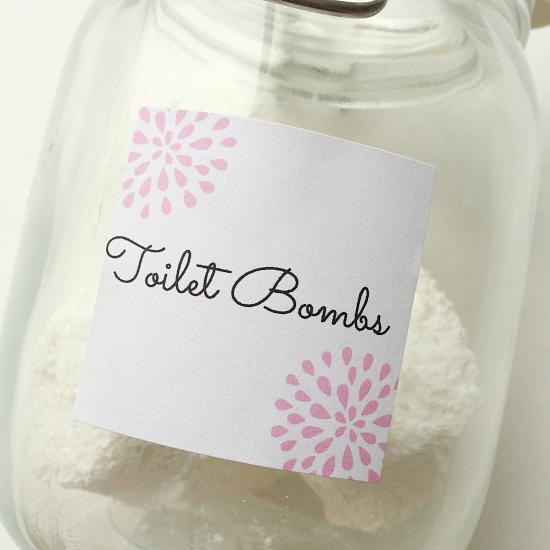 Toilet Bombs- Free Printable Label