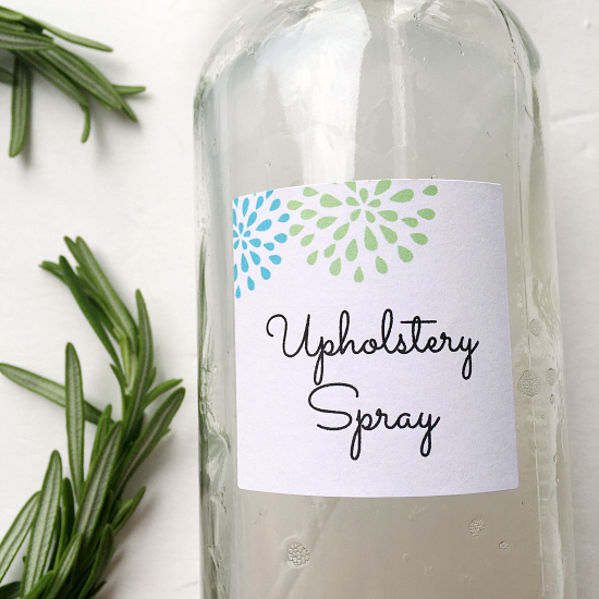Upholstery Spray- Free Printable Label