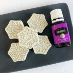 DIY Lavender and Oat Hand Soap made using snowflake mold