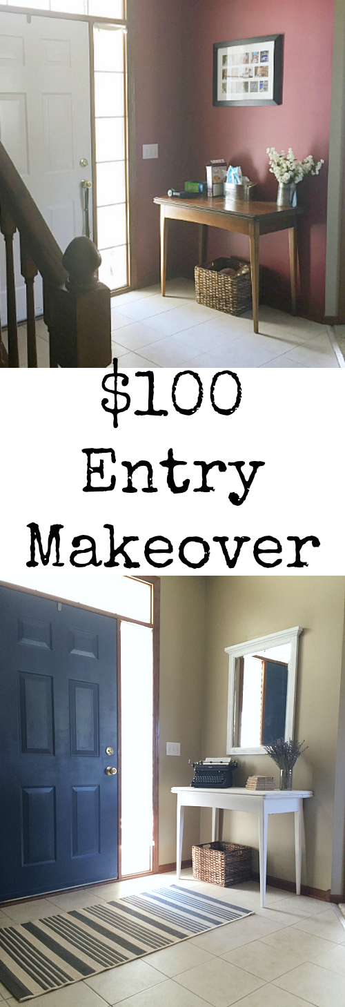 Great ideas for a budget friendly entry makover.