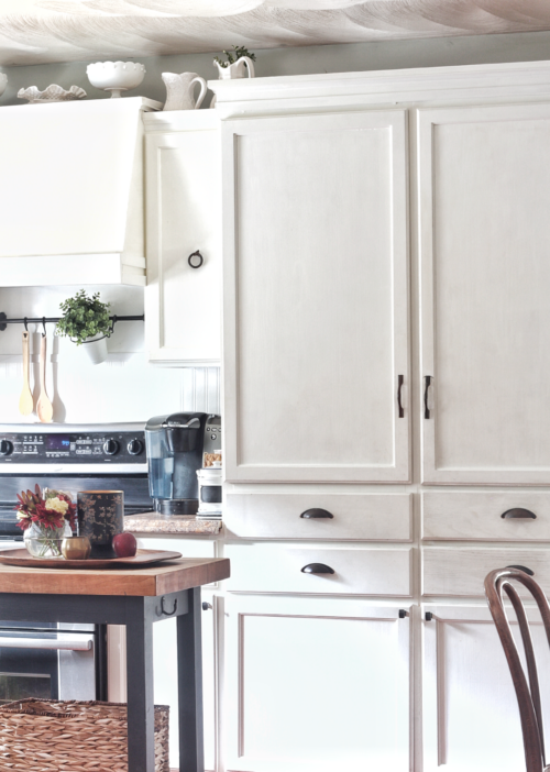 Naturally Clean White Cabinets