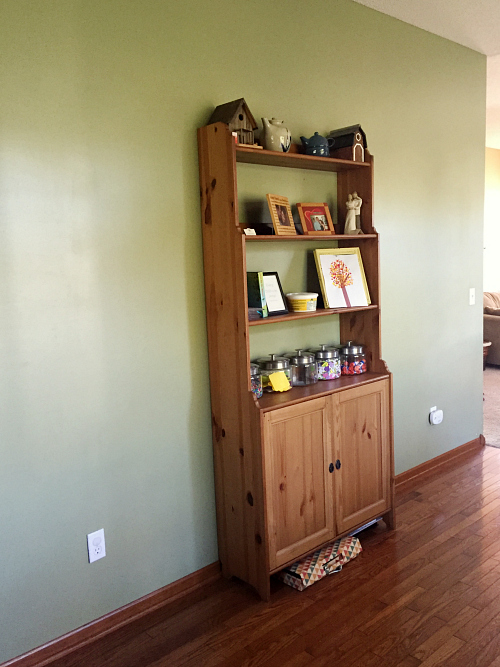 One Room Challenge: Introducing the space for my future coffee station.