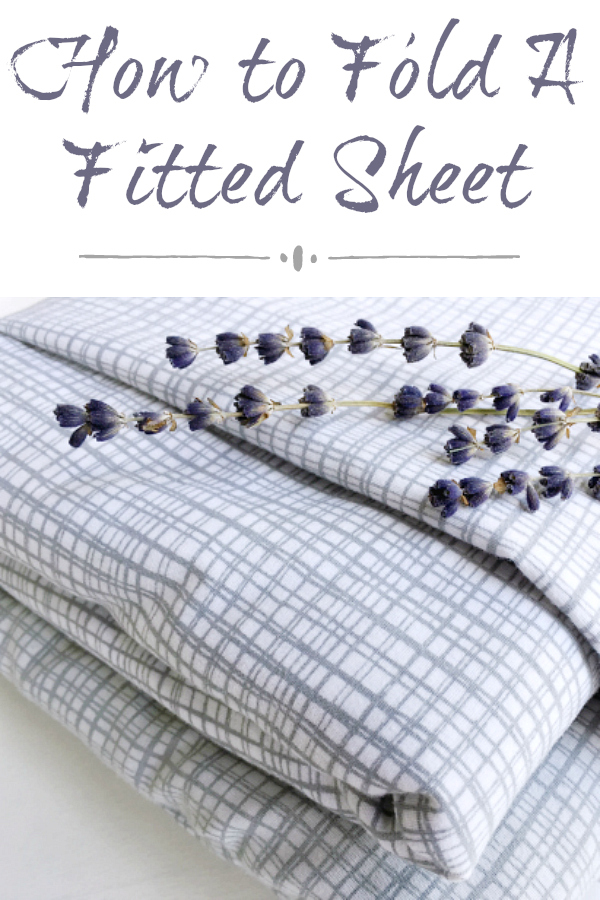 This is the easiest tutorial I have seen on how to fold a fitted sheet. No tucking in corners, just a simple folding strategy.