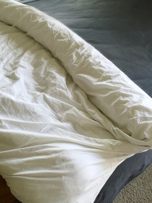 I hated putting on duvet covers after washing them. Then I discovered this trick, and it's a total game changer!