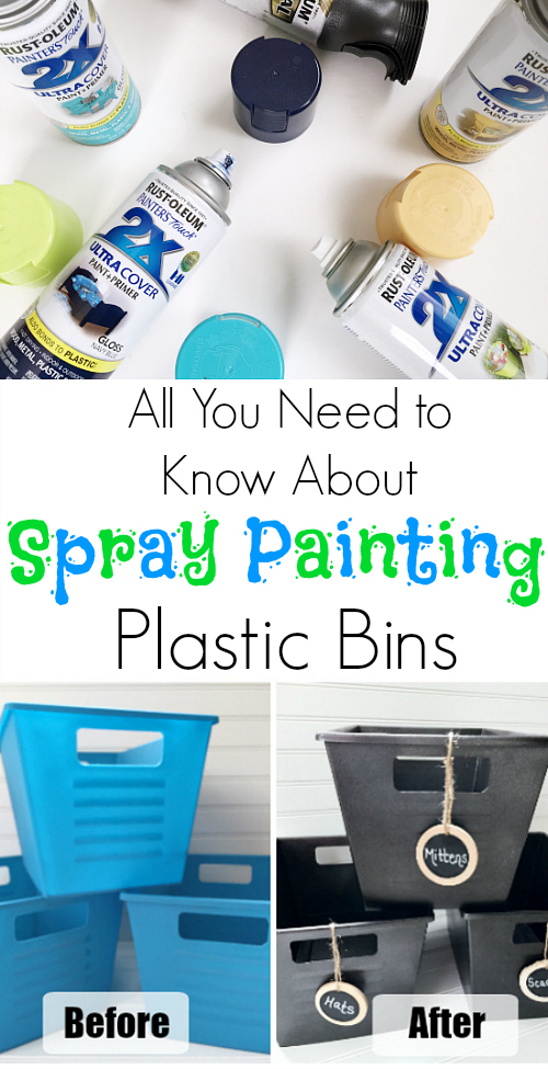 Awesome tips for spraying painting plastic so it doesn't chip