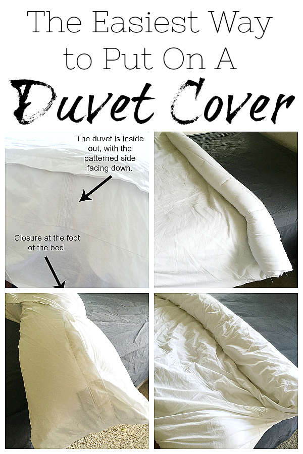 This trick makes putting on a duvet cover so much easier. I can now put on a duvet cover (by myself) in less than 5 minutes!
