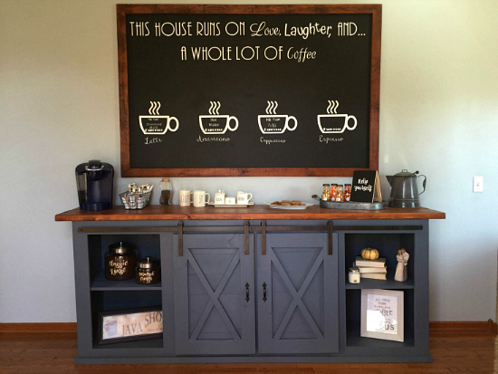 This coffee station is amazing! So many awesome ideas.