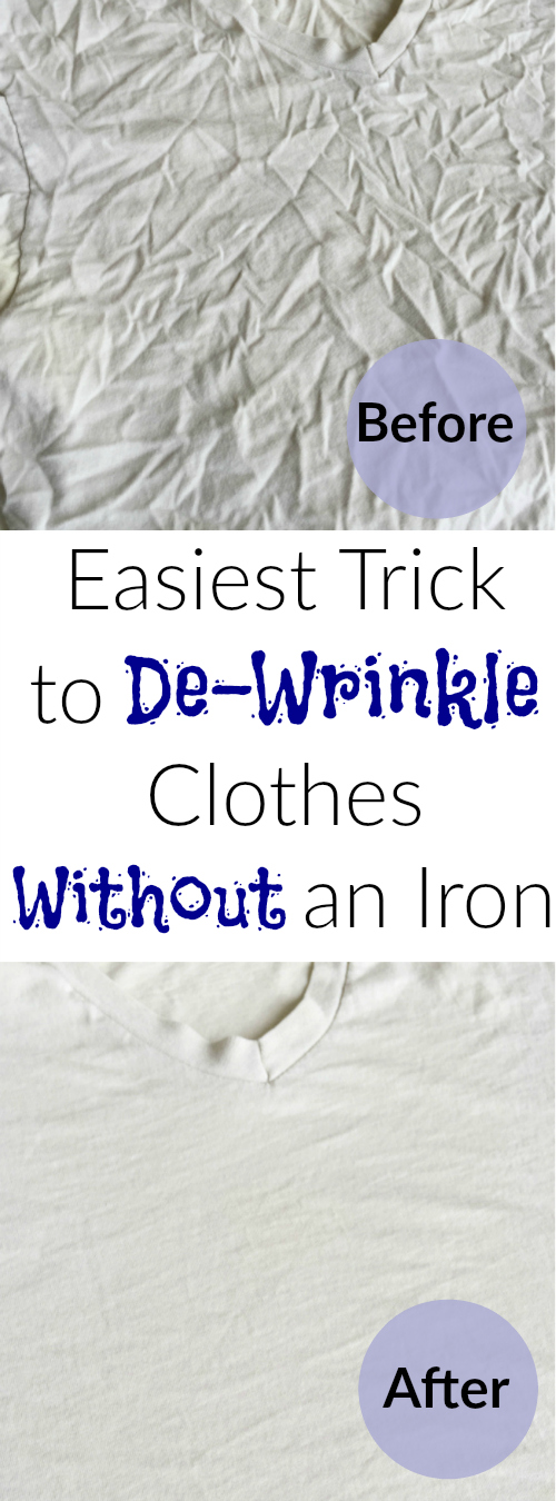 Easiest trick ever to de-wrinkle clothes without an iron.