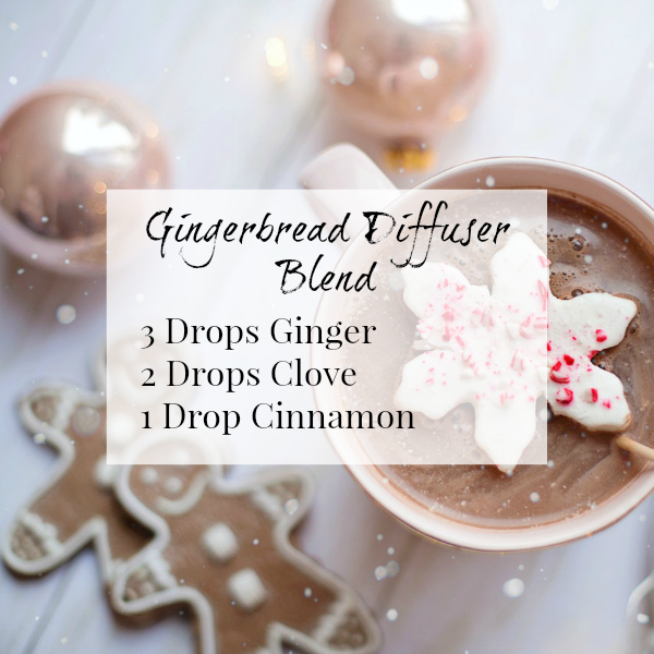 Gingerbread Diffuser Blend combines ginger, clove, and cinnamon