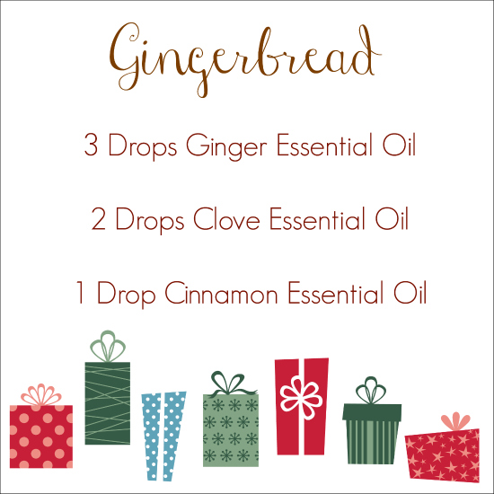 Holiday Diffuser Blends Gingerbread